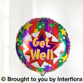 Get Well Helium Balloon