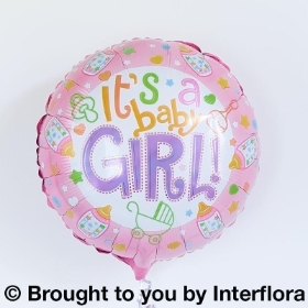 Baby Girl Helium Balloon