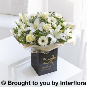 White Radiance Hand tied With Belgian Chocolates