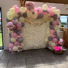 Orb Flower Wall Balloon Arch Backdrop